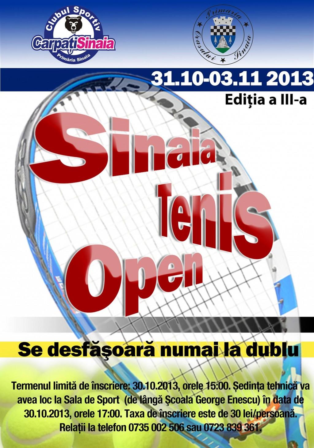 Sinaia Tenis Open 2013, editia a III-a