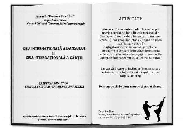 'Ziua internațională a dansului' și 'Ziua internațională a cărții'