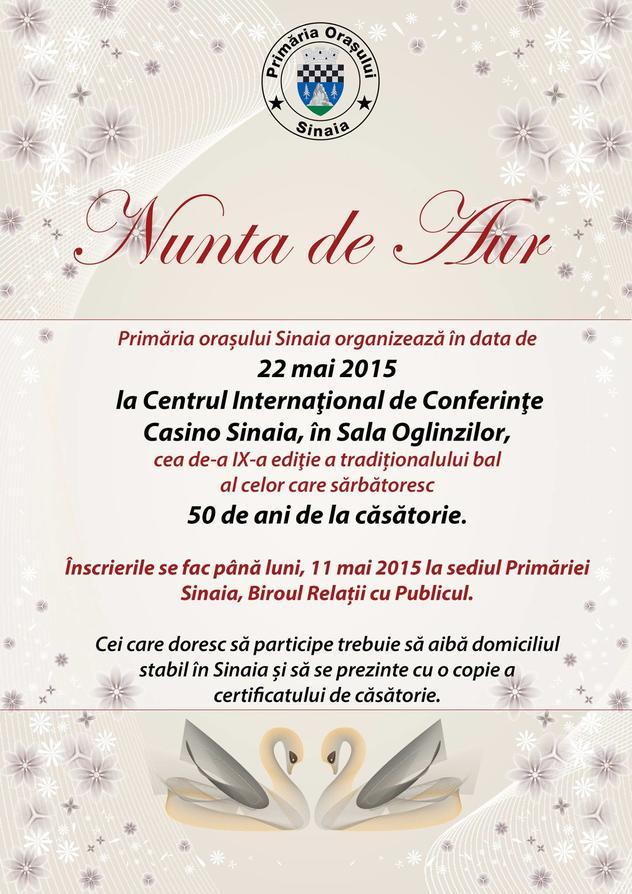 Nunta de Aur la Casino Sinaia