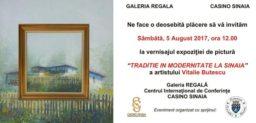 """Expoziția de pictură """"Tradiție în modernitate la Sinaia"""", sub semnătura artistului Vitalie Butescu"""