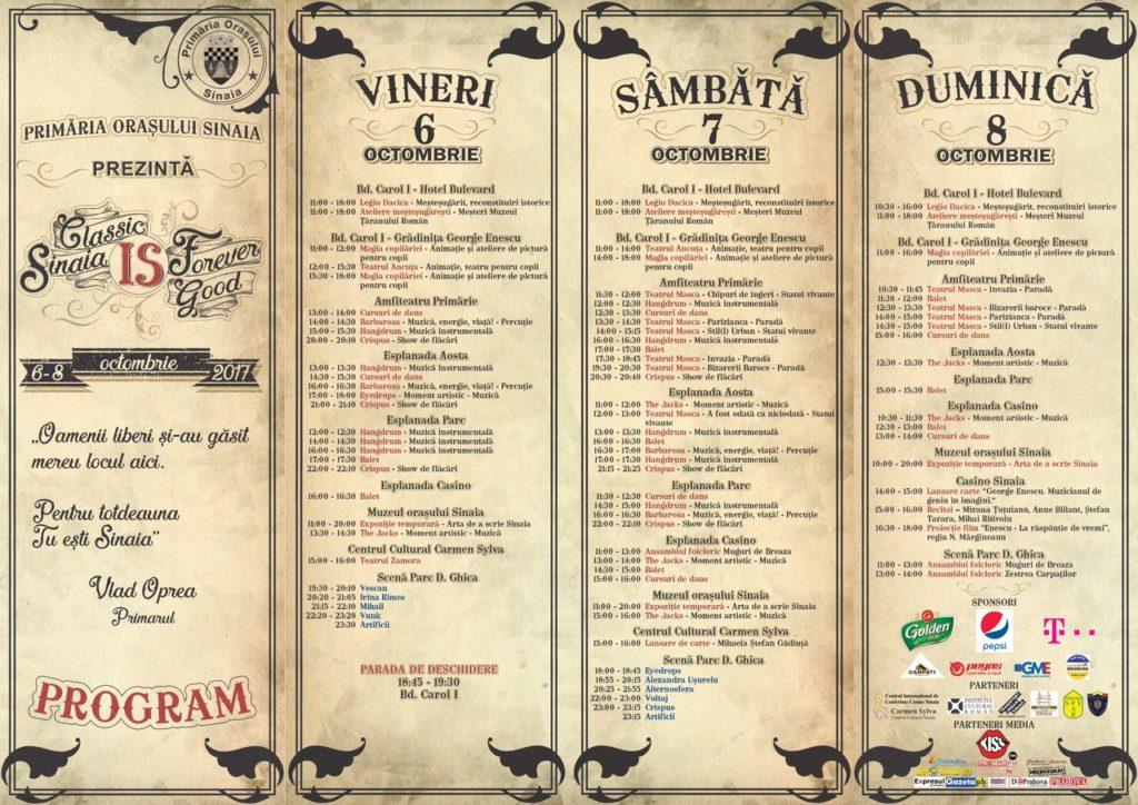 Festivalul Sinaia Forever 2017 (Program)