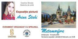 """Artista Arina Stahi vă invită să admirați expoziția de pictură """"Metamorfoze"""""""