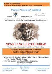 Teatru-lectura pe texte de Ion Luca Caragiale si Dinu Grigorescu