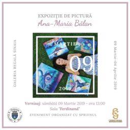 "Expozitia de pictura ""Inceput de poveste"", sub semnatura artistei Ana-Maria Balan"