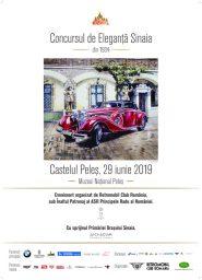 Concursul de Eleganță Sinaia – Sâmbătă, 29 iunie 2019