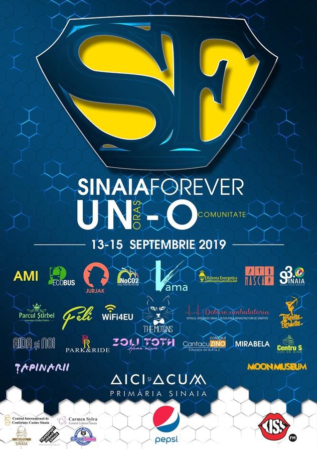 Afis pentru Festivalul Sinaia Forever 2019