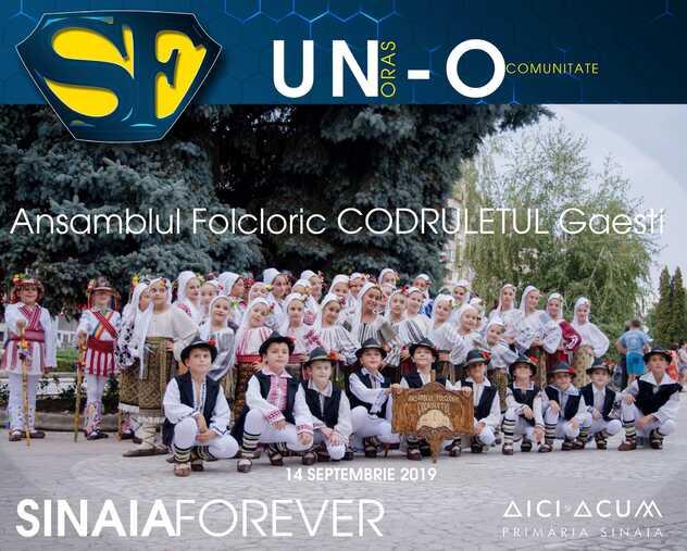 Ansamblul Folcloric Codruletul din Gaesti la Festivalul Sinaia Forever 2019