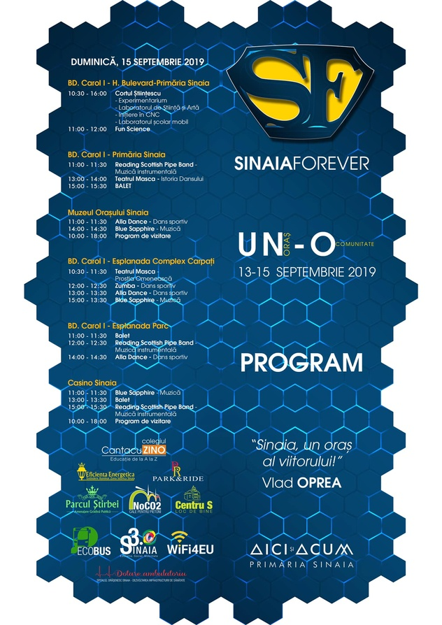 Program Duminica pentru Festivalul Sinaia Forever 2019